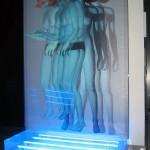 Fading light, Vincenzo Ceccato, cm. 170x110, tecnica mista su tela e neon, 2007