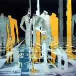Raffaella Losapio, Androidi - elaborazione digitale, plexiglas, cm 70x90, 2003